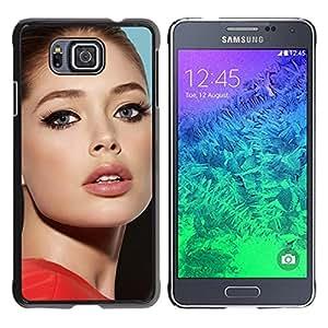 EJOY---Cubierta de la caja de protección la piel dura para el / Samsung ALPHA G850 / --sexy actriz