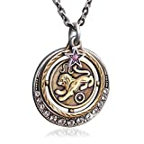 Leo Zodiac Sign Astrology Pendant Necklace - July and August Birthday Gifts