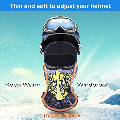 f2e3640a7b7 SUNMECI Ski Mask Balaclava Fleece Warmer Windproof Face Riding Helmet Hood  Gear