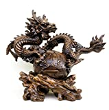 GL&G Lucky Dragon Resin Crafts living room Home Decorations office Tabletop Scenes Ornaments Collectible High-end Business gift,A,391633cm