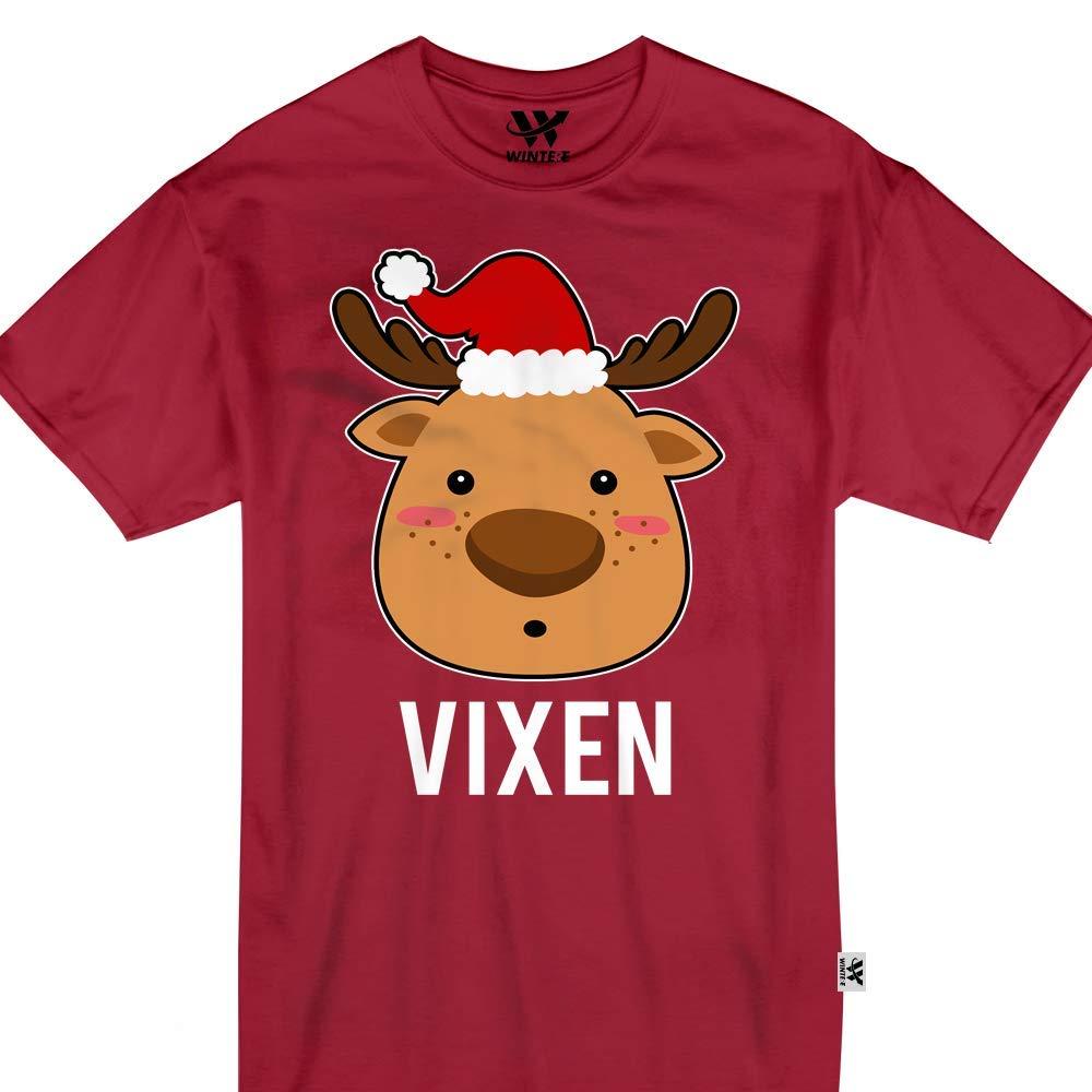 Vixen Reindeer Cute Face Emoji Shirts