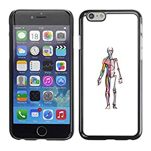 PC/Aluminum Funda Carcasa protectora para Apple Iphone 6 anatomy medicine skeleton doctor surgeon / JUSTGO PHONE PROTECTOR