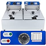Funwill Commercial Countertop Deep Fryers Tank Electric Professional Restaurant Grade Fryers (SHIPPING FROM USA) (5.5L×2)