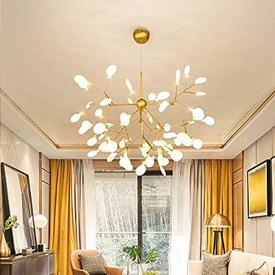36 Light Sputnik Firefly Chandelier Led Pendant Lighting Ceiling Light Fixture Golden Hanging Lamp