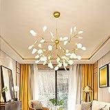 36 Light Sputnik Firefly Chandelier Led Pendant Lighting Ceiling Light Fixture Golden Hanging Lamp (36 Lights) For Sale