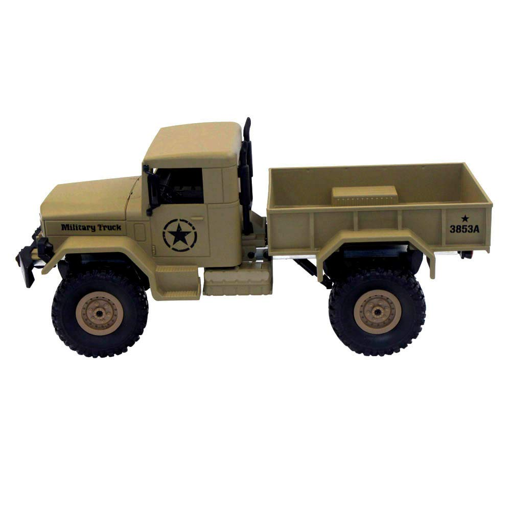 Choosebuy 1:16 Military Off-Road Remote Control Truck, Cool 6WD Powerful Engine Bright Spotlights RC Tracked Cars Toys with 2.4GHz Technology for Indoors/Outdoors (Desert Yellow) by Choosebuy (Image #3)