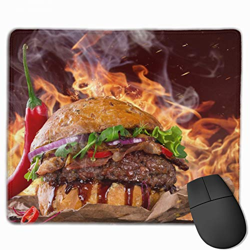 Pad Mouse Hot Super (Non-Slip Mouse Pad Rectangle Rubber Mousepad Hamburger Super Hot Print Gaming Mouse Pad)