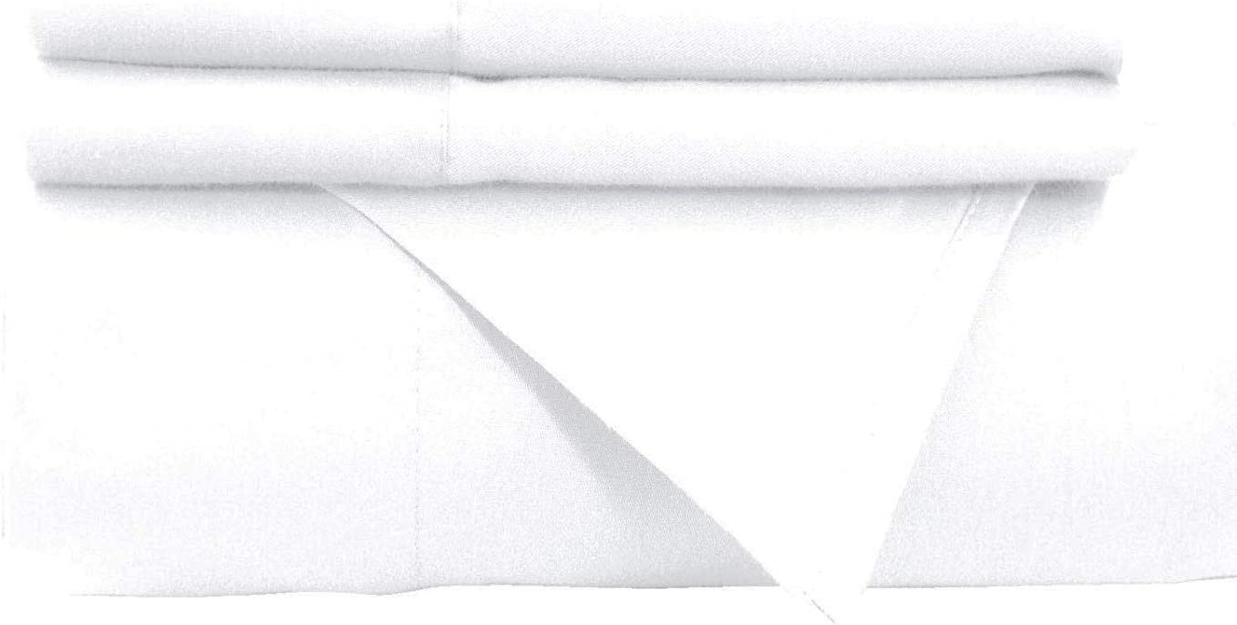 Empire Home White Flat Sheet Persian 1800 Collection Top Sheet Wrinkle Free Newo (Twin)
