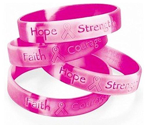 144 Camouflage pink ribbon bracelets - Breast Cancer Awareness fundraiser bracelets