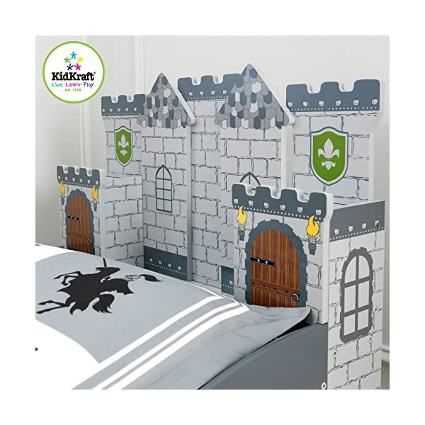 KidKraft Boy's Medieval Castle Toddler Bed 4