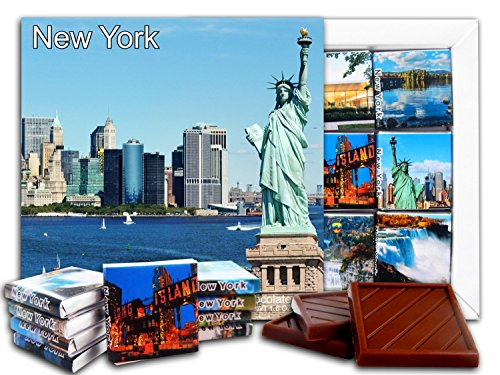 DA CHOCOLATE Candy Souvenir NEW YORK State Chocolate Gift Set 5x5in 1 box (Statue of (New York Gift Box)