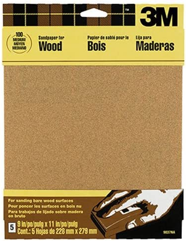 3M Garnet Sandpaper, 9-Inch by 11-Inch, Assorted-Grit, 5-Sheet - 9040NA 51Aqeh1iluL