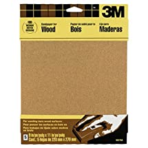3M Garnet Sandpaper, 9-Inch by 11-Inch, Assorted-Grit, 5-Sheet