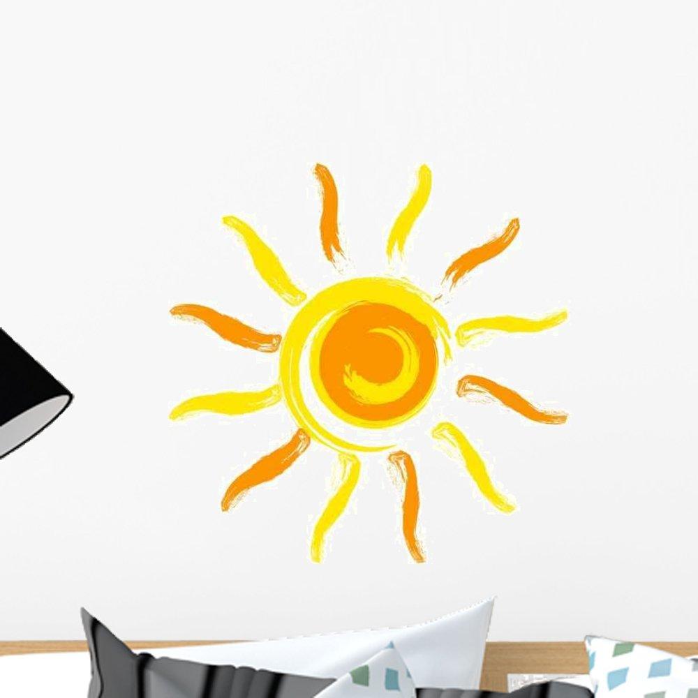 12 in W x 12 in H WM106263 GEN-10249-12 Wallmonkeys Vector Sun Wall Decal Peel and Stick Graphic