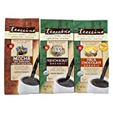 Teeccino Variety Pack (Mocha, French Roast, and Maca Chocolate) Chicory Herbal Coffee, Caffeine Free, Acid Free, 11 Ounce (Pack of 3)