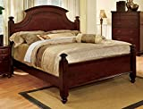 What Is a European King Size Bed 247SHOPATHOME Idf-7083Ck Bed-Frames, California King, Cherry