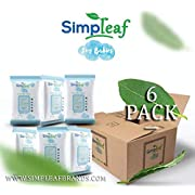 Simpleaf for Babies Flushable Wipes (Travel Pack): Eco- Friendly, Thick and Effective, Paraben and Alcohol Free, Hypoallergenic and Safe for Sensitive Skin, Unscented, Soothing Aloe Vera (6 Packs)