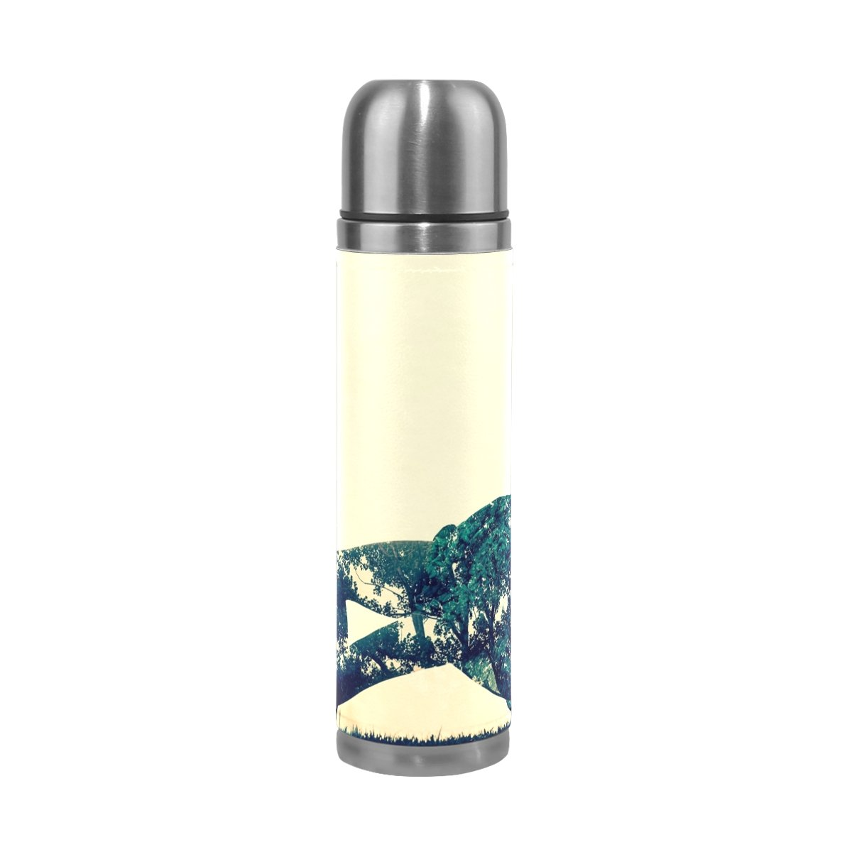 FeiHuang Girl Dance Stainless Steel Leak-Proof Vacuum Insulated Flask Pot Sport Double Wall Water Bottle Leather Thermo Jug