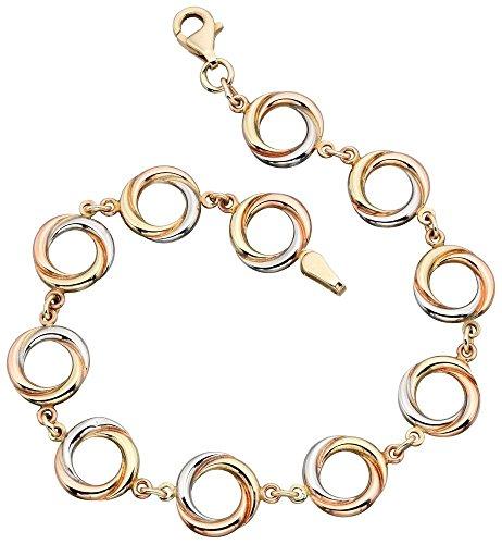 Mon-bijou - D404 - Bracelet Original Or Blanc et Or 375/1000 carats