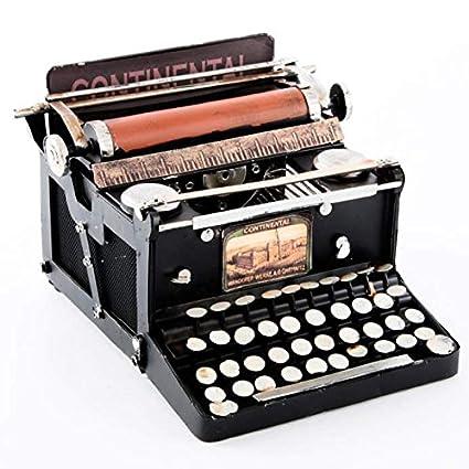 Indhouse - Máquina de escribir vintage decorativa de metal II