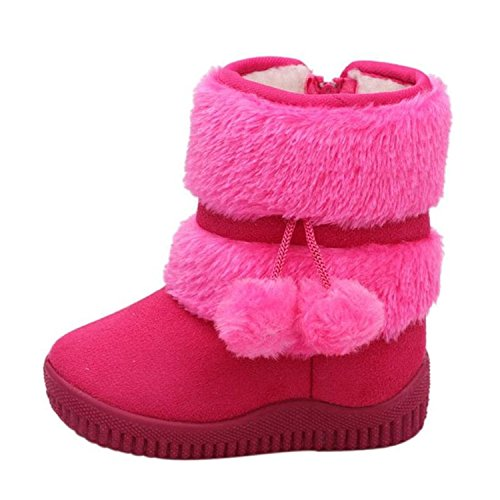 Children Snow Boots Kids Shoes Girls Boot Winter Warm Baby Cotton Shoes Rose - Mk Boots Baby