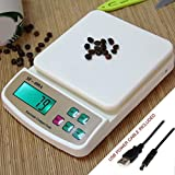 Zelenor Compact Scale with Tare Function SF 400A with Adapter & Battery Operated 10 kg Digital Multi-Purpose Kitchen Weighing Scale