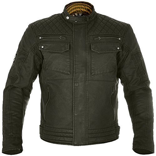 Waxed Cotton Motorcycle Jacket - 1