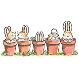 Penny Black Decorative Rubber Stamps, Bunny Friends (1927K)