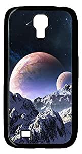 Brian114 Samsung Galaxy S4 Case, S4 Case - Black Hard PC Cases for Samsung Galaxy S4 I9500 Somewhere Over The Mountains Ultra Fit for Samsung Galaxy S4 I9500
