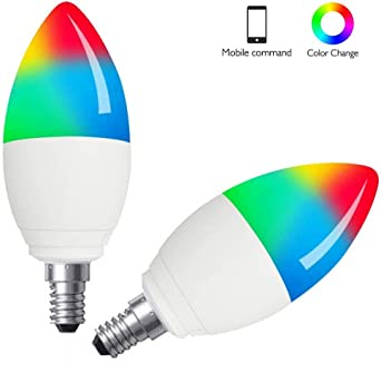 Boaz Inteligente Wifi Bombilla E14, Luz LED Control de voz Bulbo ...