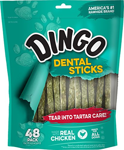 Dingo Tartar And Breath Dental Sticks For All Dogs, 48-Count]()