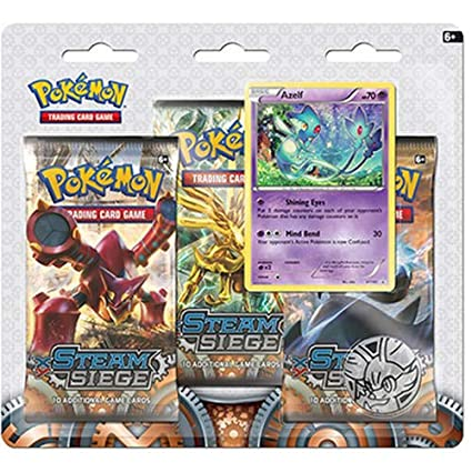 Amazon com: Pokemon XY11 Steam Siege - Azelf 3pk: Toys & Games