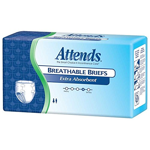 Attends Extra Absorbent Breathable Briefs, Large, 44