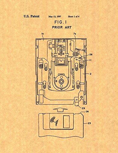 Floppy Disk Patent Print Art Poster