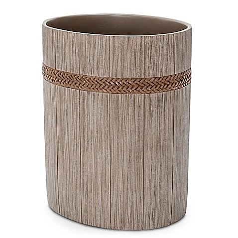 Michael Amini Brentwood Wastebasket in Dove