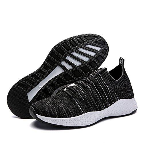 Grigio Scarpe Scarpe Blu Ginnastica Sportive da Mesh BIGU Nero Nero Respirabile da Trekking Uomo Fitness Sneakers Sneakers Running Corsa all'aperto TqSUPwdnx