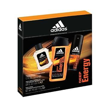 b18a6dafd9582 Adidas Deep Energy 3 Piece Gift Set (Shower Gel, Eau de Toilette Spray,  Body Spray)