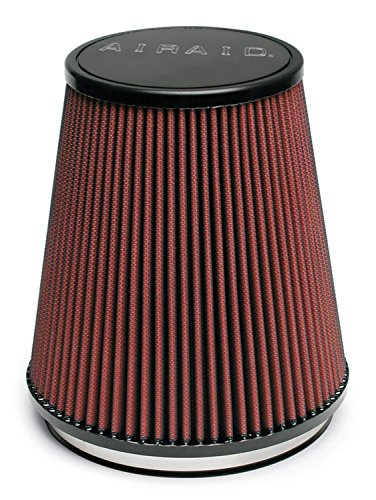 Airaid 700-462 Universal Clamp-On Air Filter: Round Tapered; 6 in (152 mm) Flange ID; 7 in (178 mm) Height; 7.25 in (184 mm) Base; 5 in (127 mm) Top