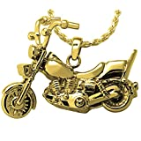Memorial Gallery 3304gp Motorcycle 14K Gold/Sterling Silver Plating Cremation Pet Jewelry