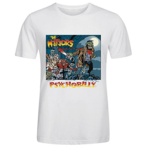 The Meteors Psychobilly T Shirt Mens White
