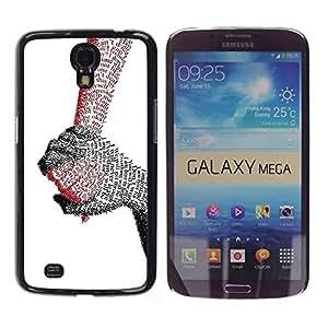 Stuss Case / Funda Carcasa protectora - Holding Hands Love True Quote Letter Couple - Samsung Galaxy Mega 6.3 I9200 SGH-i527