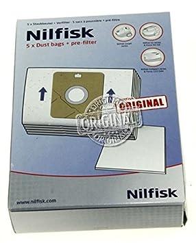 Bolsas para aspiradora ORIGINAL Nilfisk Coupe , Go, Force ...