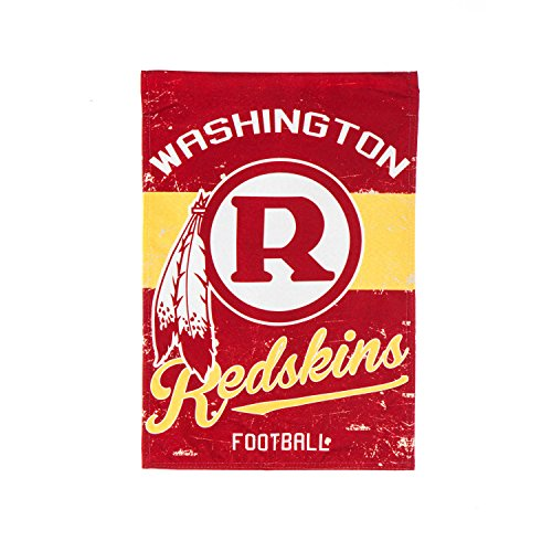 Washington Redskins Garden (Team Sports America Washington Redskins NFL Vintage Linen Garden Flag - 12.5