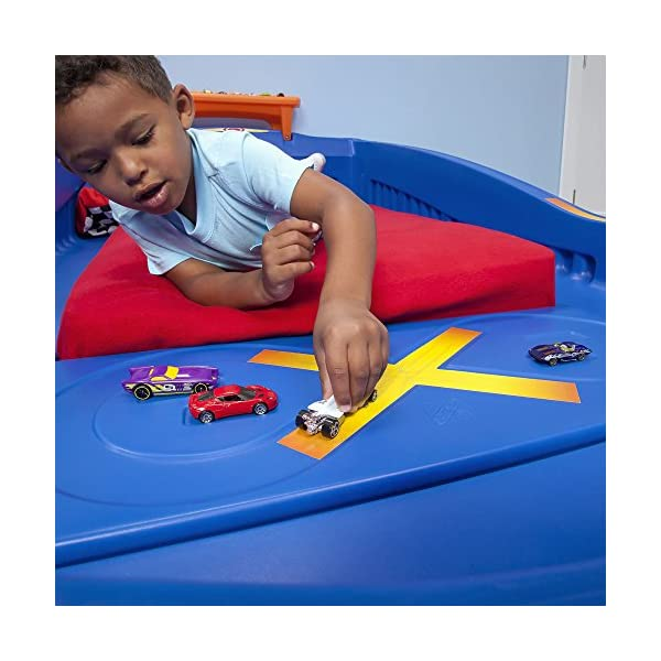 Step2 Hot Wheels Toddler to Twin Bed with Lights Vehicle 5