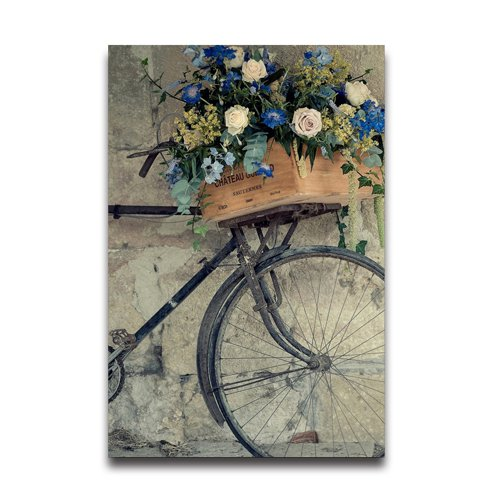 Flipped Summer Flower Bicycle Wallpaper Decorative Creative Art Design Wall Decor Custom Poster 20''x 30'' by Flipped Summer