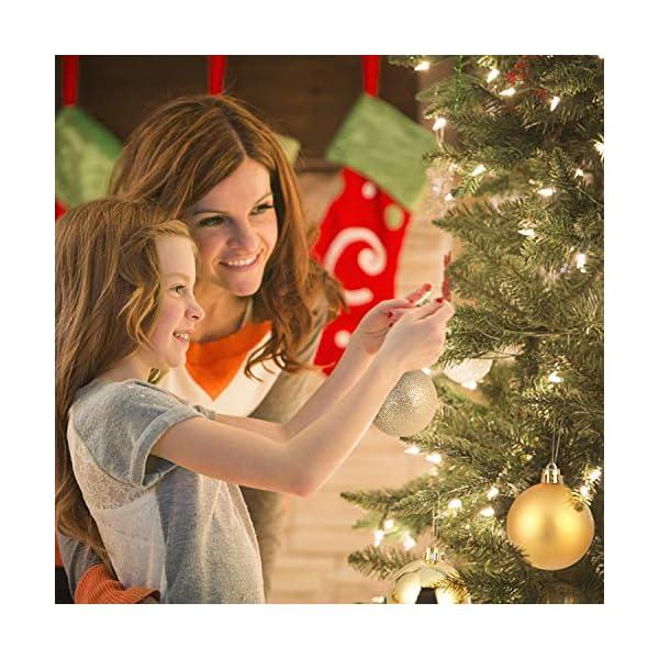 Kranich 32 Palline per Albero di Natale in Oro, infrangibili, Ideali per Decorazioni Natalizie, Decorazioni da Appendere, per Feste, Matrimoni, Feste (5 Finiture, 60 mm) 5 spesavip