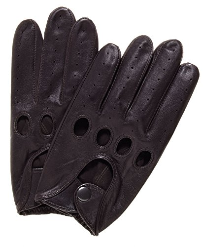 Pratt and Hart Traditional Leather Driving Gloves Size S Color Brown by Pratt and Hart