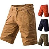 vermers Clearance Sale Fashion Mens Cargo Shorts Summer Casual Pocket Work Short Pants Trousers(40, Navy)