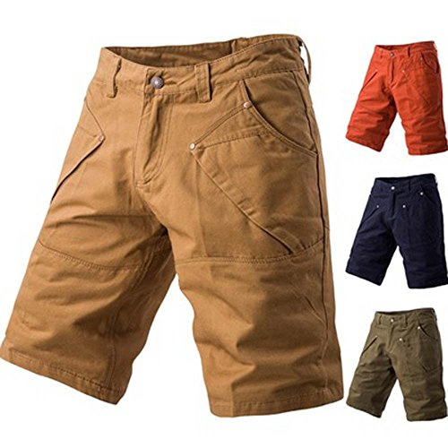 vermers Fashion Mens Cargo Shorts Summer Casual Pocket Work Short Pants Trousers(32, Navy) ()