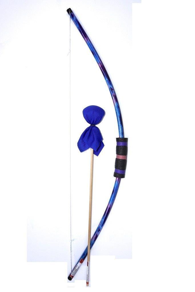 Two Bros Bows Blue Tie-Dye Bow with Cobalt Arrow Archery Toy Set